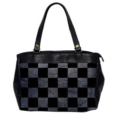 Square1 Black Marble & Gray Leather Office Handbags