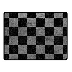 Square1 Black Marble & Gray Leather Fleece Blanket (small)