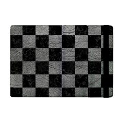Square1 Black Marble & Gray Leather Apple Ipad Mini Flip Case