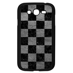 Square1 Black Marble & Gray Leather Samsung Galaxy Grand Duos I9082 Case (black)