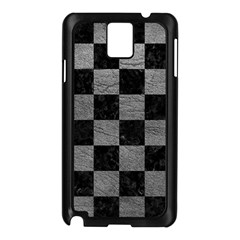 Square1 Black Marble & Gray Leather Samsung Galaxy Note 3 N9005 Case (black)