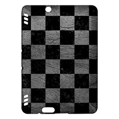 Square1 Black Marble & Gray Leather Kindle Fire Hdx Hardshell Case