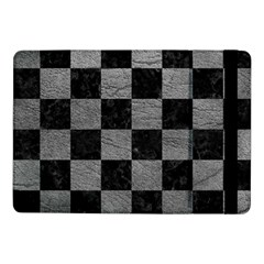 Square1 Black Marble & Gray Leather Samsung Galaxy Tab Pro 10 1  Flip Case