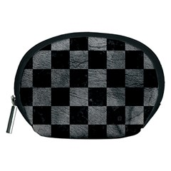 Square1 Black Marble & Gray Leather Accessory Pouches (medium)