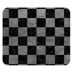 Square1 Black Marble & Gray Leather Double Sided Flano Blanket (small)
