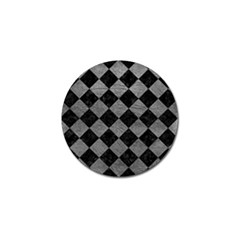 Square2 Black Marble & Gray Leather Golf Ball Marker (4 Pack)