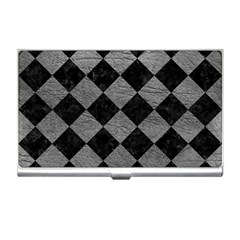 Square2 Black Marble & Gray Leather Business Card Holders
