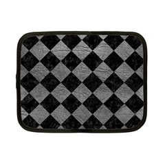 Square2 Black Marble & Gray Leather Netbook Case (small)