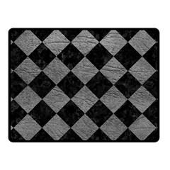 Square2 Black Marble & Gray Leather Fleece Blanket (small)