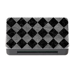 Square2 Black Marble & Gray Leather Memory Card Reader With Cf