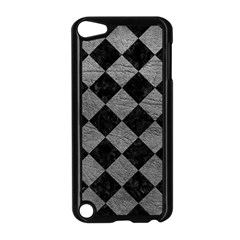 Square2 Black Marble & Gray Leather Apple Ipod Touch 5 Case (black)