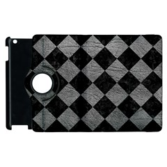 Square2 Black Marble & Gray Leather Apple Ipad 2 Flip 360 Case
