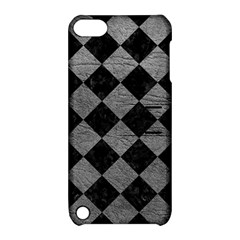 Square2 Black Marble & Gray Leather Apple Ipod Touch 5 Hardshell Case With Stand