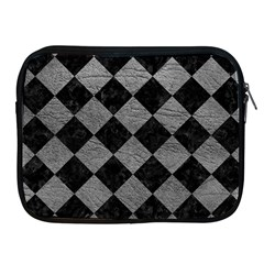 Square2 Black Marble & Gray Leather Apple Ipad 2/3/4 Zipper Cases
