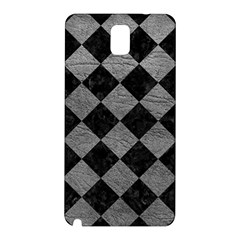Square2 Black Marble & Gray Leather Samsung Galaxy Note 3 N9005 Hardshell Back Case