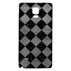 Square2 Black Marble & Gray Leather Galaxy Note 4 Back Case