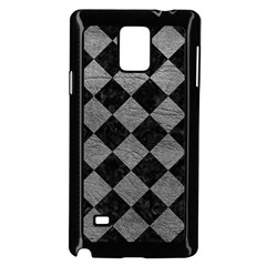 Square2 Black Marble & Gray Leather Samsung Galaxy Note 4 Case (black)