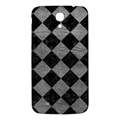 Square2 Black Marble & Gray Leather Samsung Galaxy Mega I9200 Hardshell Back Case