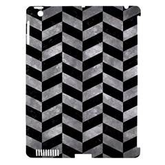 Chevron1 Black Marble & Gray Metal 2 Apple Ipad 3/4 Hardshell Case (compatible With Smart Cover)