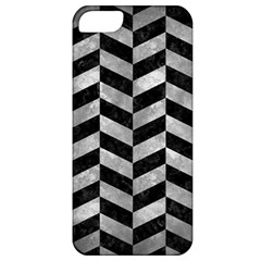 Chevron1 Black Marble & Gray Metal 2 Apple Iphone 5 Classic Hardshell Case