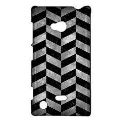 Chevron1 Black Marble & Gray Metal 2 Nokia Lumia 720