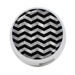 Chevron3 Black Marble & Gray Metal 2 4 Port Usb Hub (two Sides)