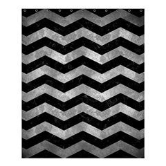Chevron3 Black Marble & Gray Metal 2 Shower Curtain 60  X 72  (medium)