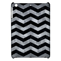 Chevron3 Black Marble & Gray Metal 2 Apple Ipad Mini Hardshell Case