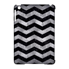 Chevron3 Black Marble & Gray Metal 2 Apple Ipad Mini Hardshell Case (compatible With Smart Cover)