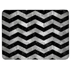 Chevron3 Black Marble & Gray Metal 2 Samsung Galaxy Tab 7  P1000 Flip Case