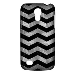 Chevron3 Black Marble & Gray Metal 2 Galaxy S4 Mini