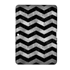 Chevron3 Black Marble & Gray Metal 2 Samsung Galaxy Tab 2 (10 1 ) P5100 Hardshell Case