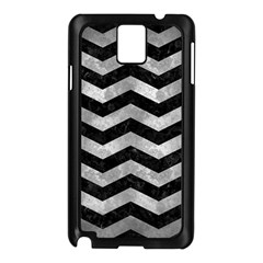 Chevron3 Black Marble & Gray Metal 2 Samsung Galaxy Note 3 N9005 Case (black)