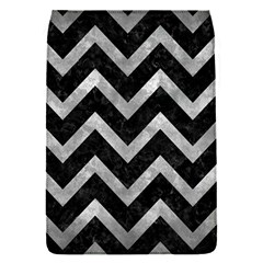 Chevron9 Black Marble & Gray Metal 2 Flap Covers (s)