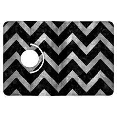 Chevron9 Black Marble & Gray Metal 2 Kindle Fire Hdx Flip 360 Case