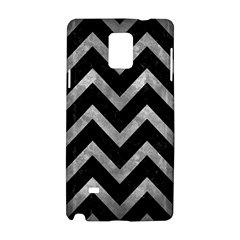 Chevron9 Black Marble & Gray Metal 2 Samsung Galaxy Note 4 Hardshell Case
