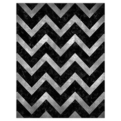 Chevron9 Black Marble & Gray Metal 2 Drawstring Bag (large)