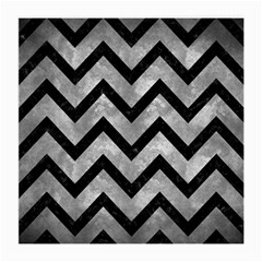 Chevron9 Black Marble & Gray Metal 2 (r) Medium Glasses Cloth (2 Side)