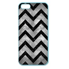 Chevron9 Black Marble & Gray Metal 2 (r) Apple Seamless Iphone 5 Case (color)