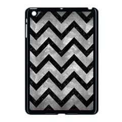 Chevron9 Black Marble & Gray Metal 2 (r) Apple Ipad Mini Case (black)