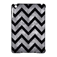 Chevron9 Black Marble & Gray Metal 2 (r) Apple Ipad Mini Hardshell Case (compatible With Smart Cover)