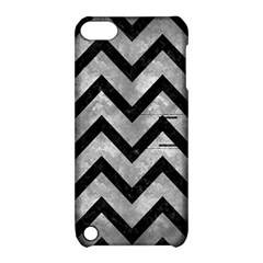 Chevron9 Black Marble & Gray Metal 2 (r) Apple Ipod Touch 5 Hardshell Case With Stand