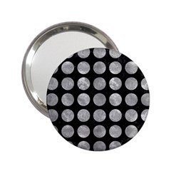 Circles1 Black Marble & Gray Metal 2 2 25  Handbag Mirrors