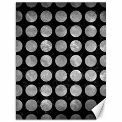 Circles1 Black Marble & Gray Metal 2 Canvas 12  X 16