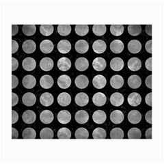 Circles1 Black Marble & Gray Metal 2 Small Glasses Cloth (2 Side)
