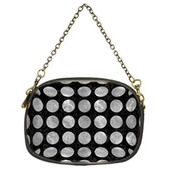 Circles1 Black Marble & Gray Metal 2 Chain Purses (two Sides)