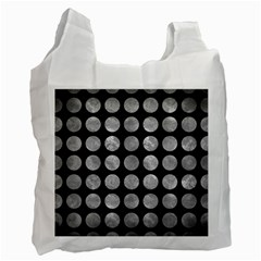 Circles1 Black Marble & Gray Metal 2 Recycle Bag (two Side)