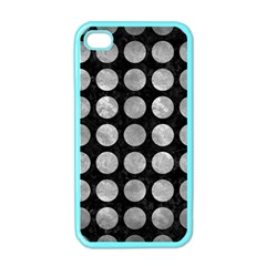 Circles1 Black Marble & Gray Metal 2 Apple Iphone 4 Case (color)