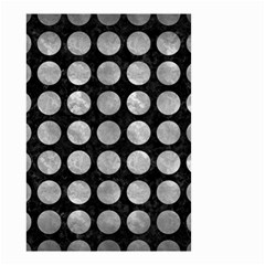 Circles1 Black Marble & Gray Metal 2 Small Garden Flag (two Sides)