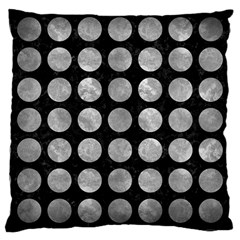 Circles1 Black Marble & Gray Metal 2 Large Cushion Case (one Side)